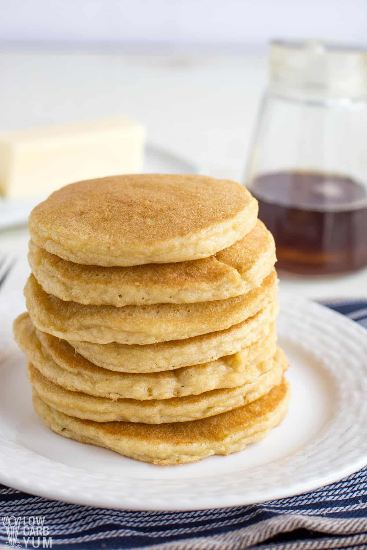 keto pancakes with almond flour stack