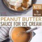 keto peanut butter sauce for ice cream