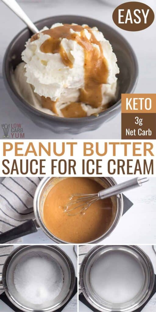 keto peanut butter sauce for ice cream