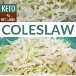 low carb keto coleslaw