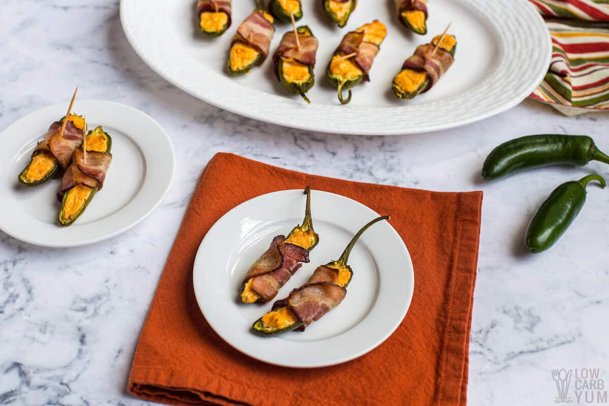 serving jalapeño poppers