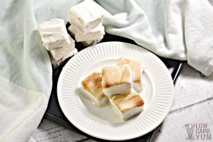 toasted keto marshmallows