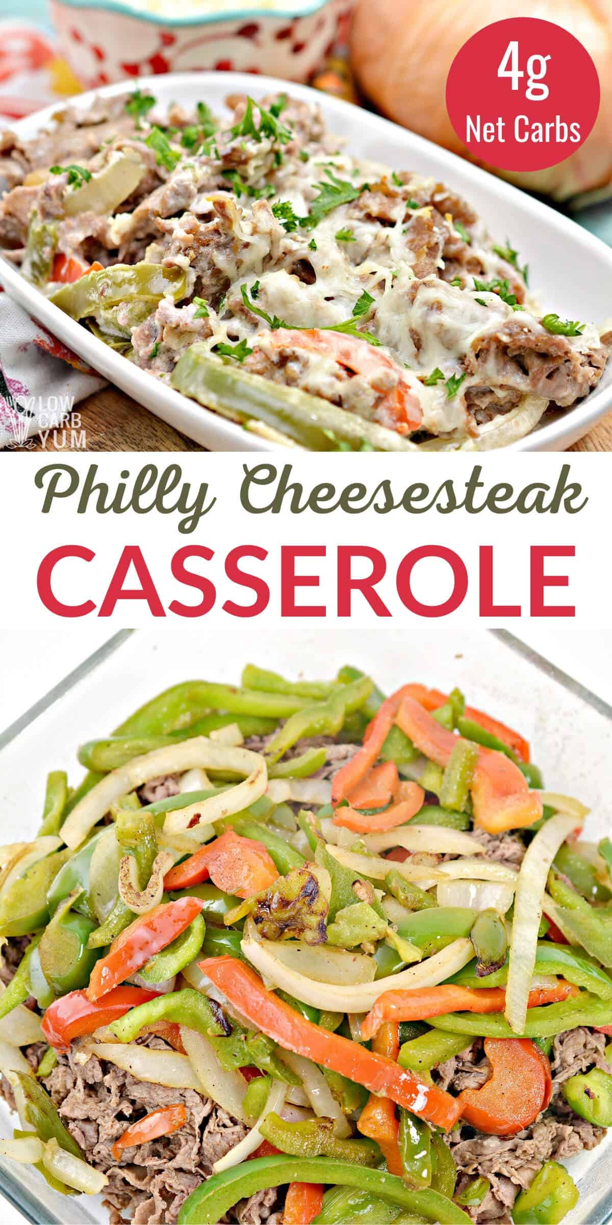 cheesesteak casserole recipe