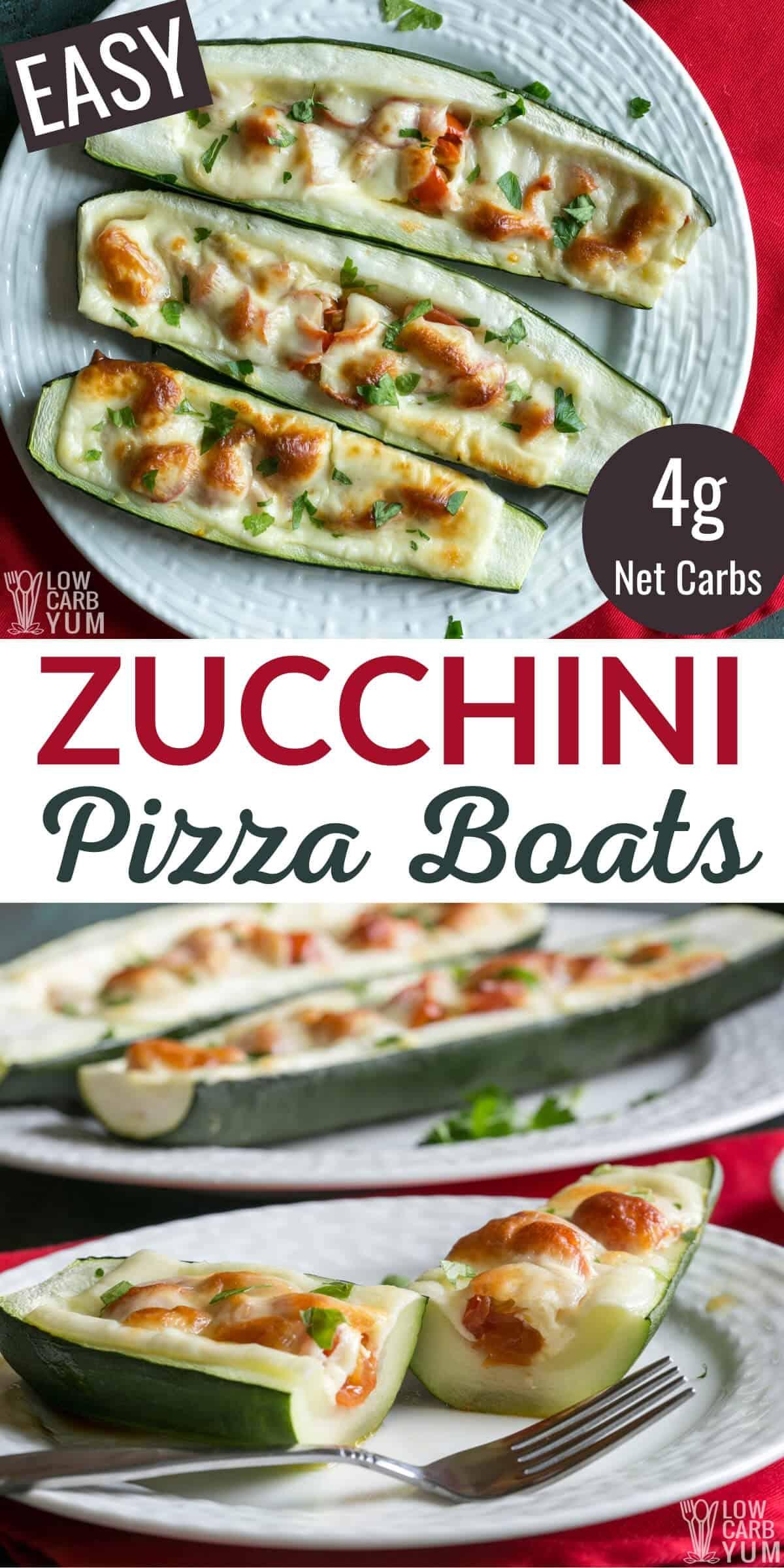 easy zucchini pizza boats