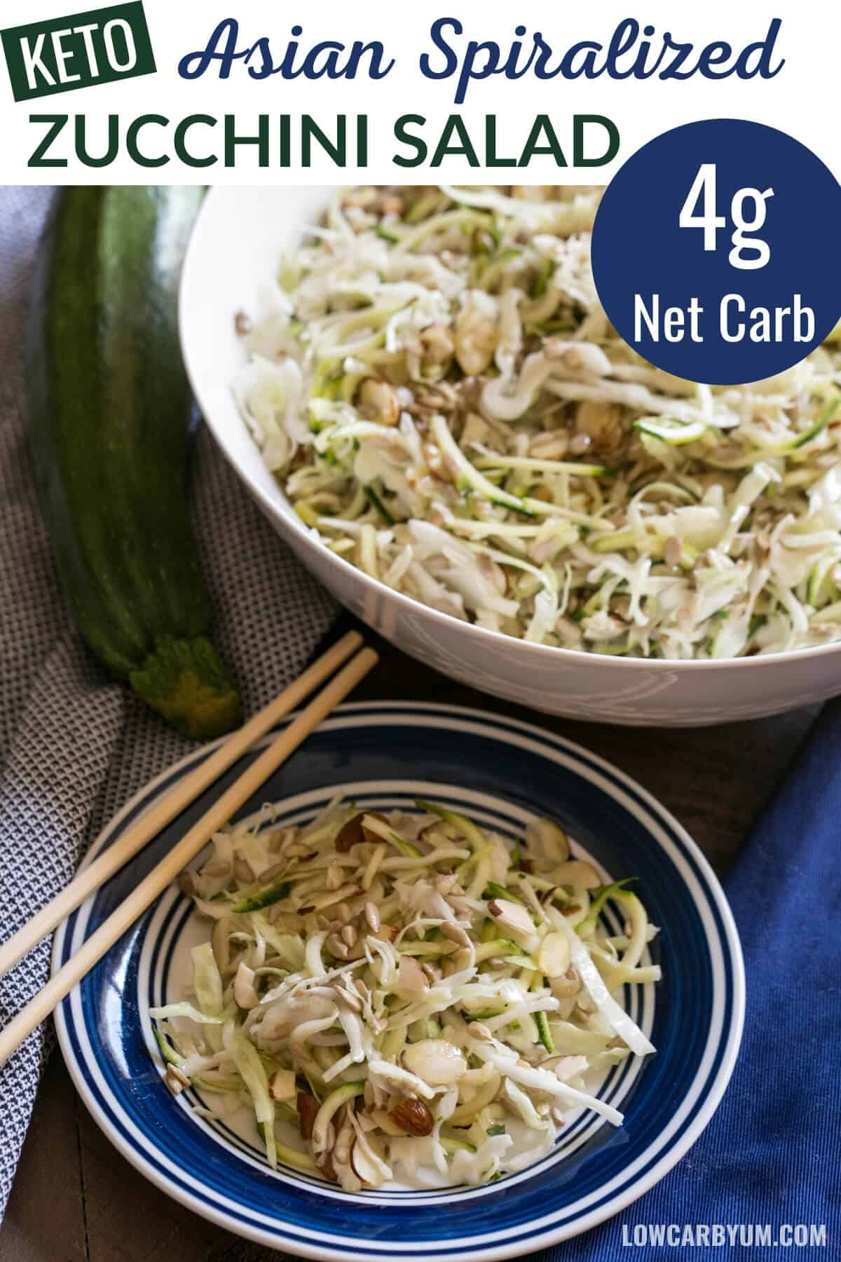 keto Asian spiralized zucchini salad