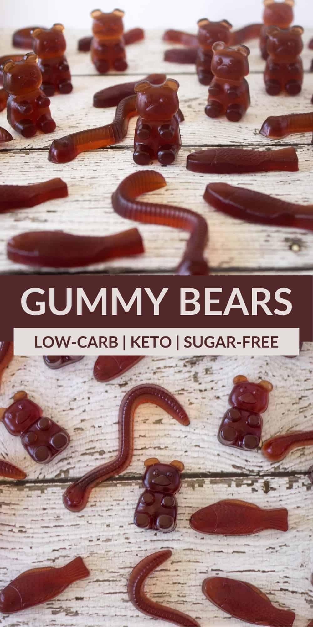 keto gummy bears pinterest image
