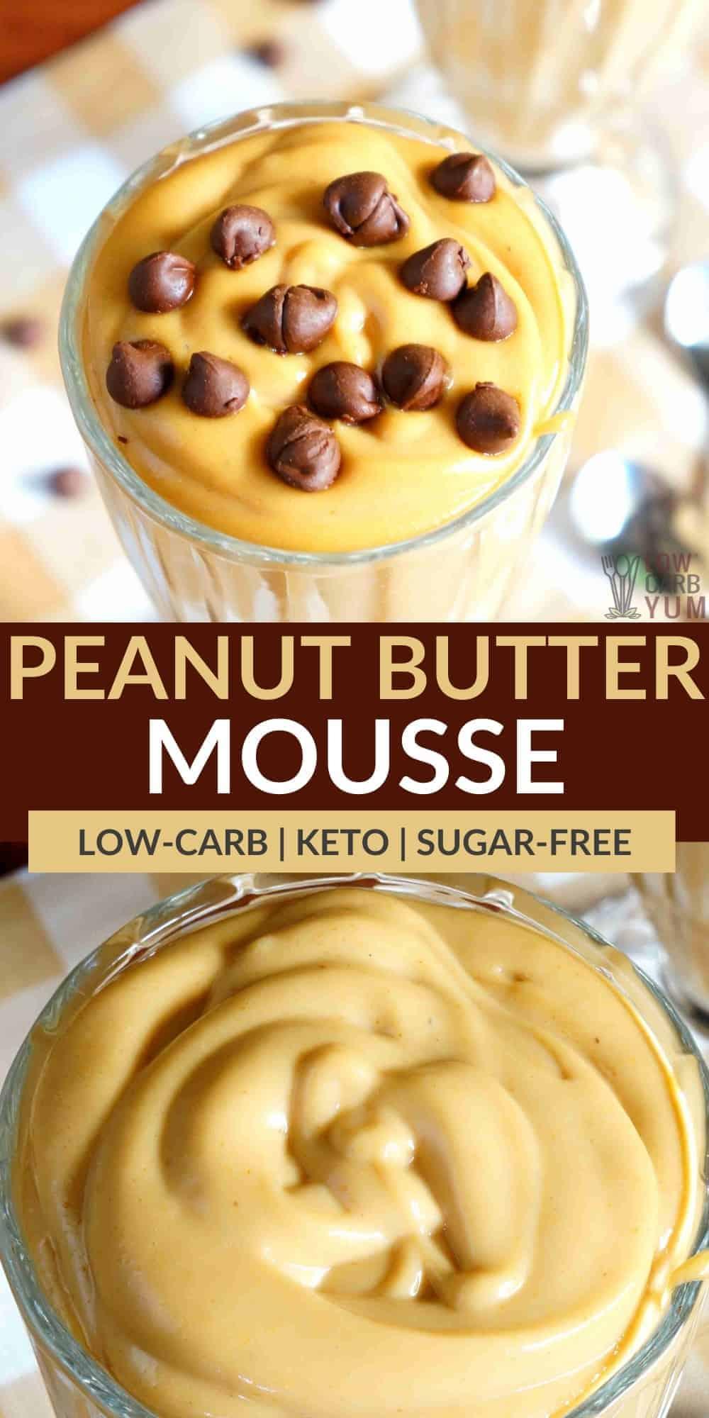keto peanut butter mousse pinterest image