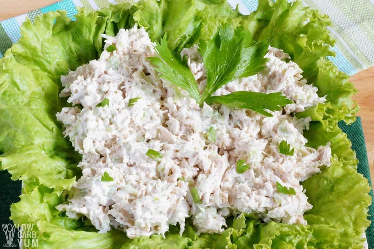 salad on lettuce