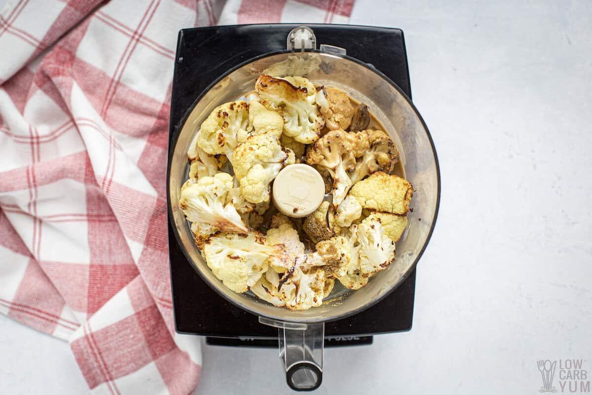 processing keto hummus