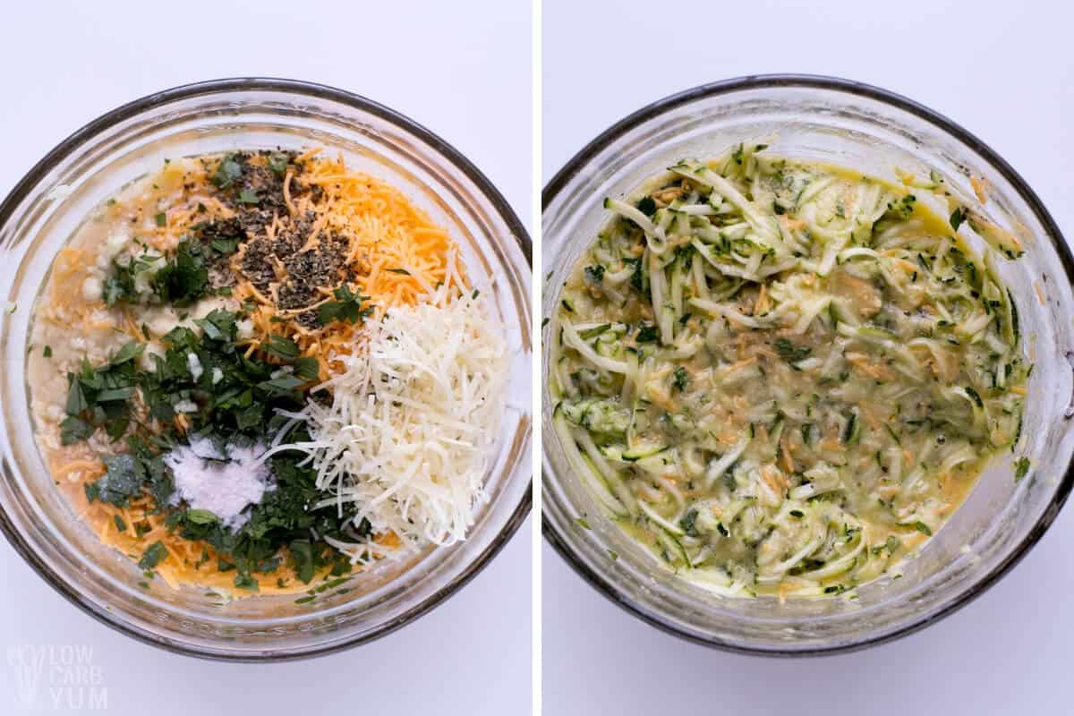 zucchini quiche mixture