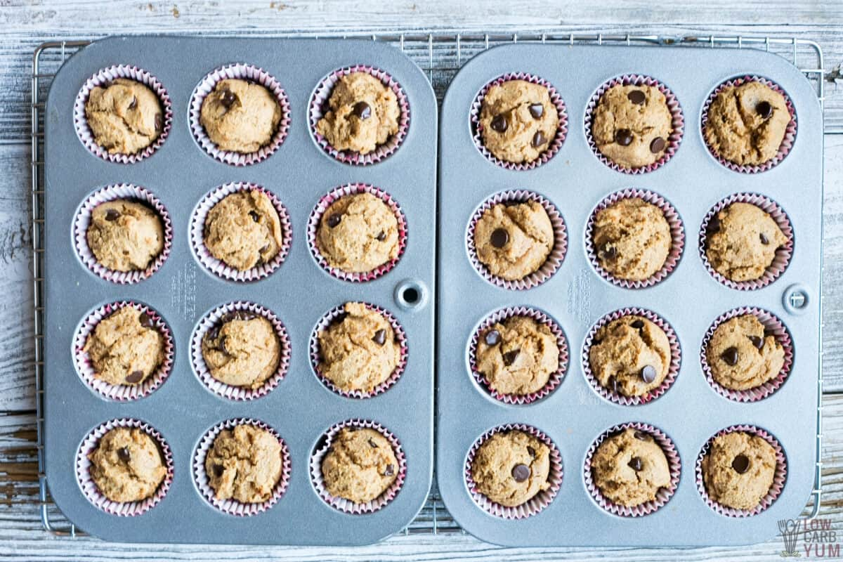 muffins after baking