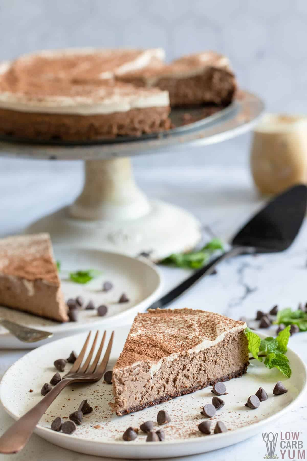 chocolate mocha cheesecake