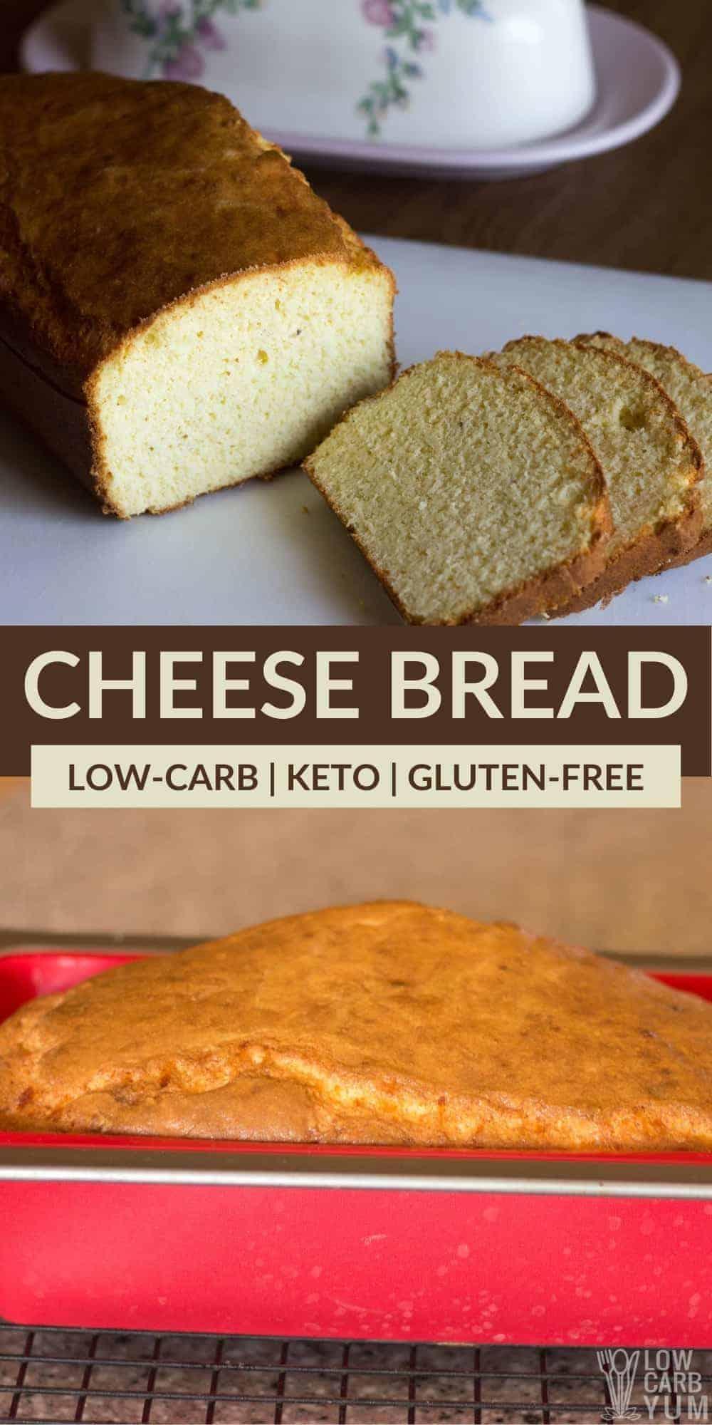 keto cheese bread pinterest image