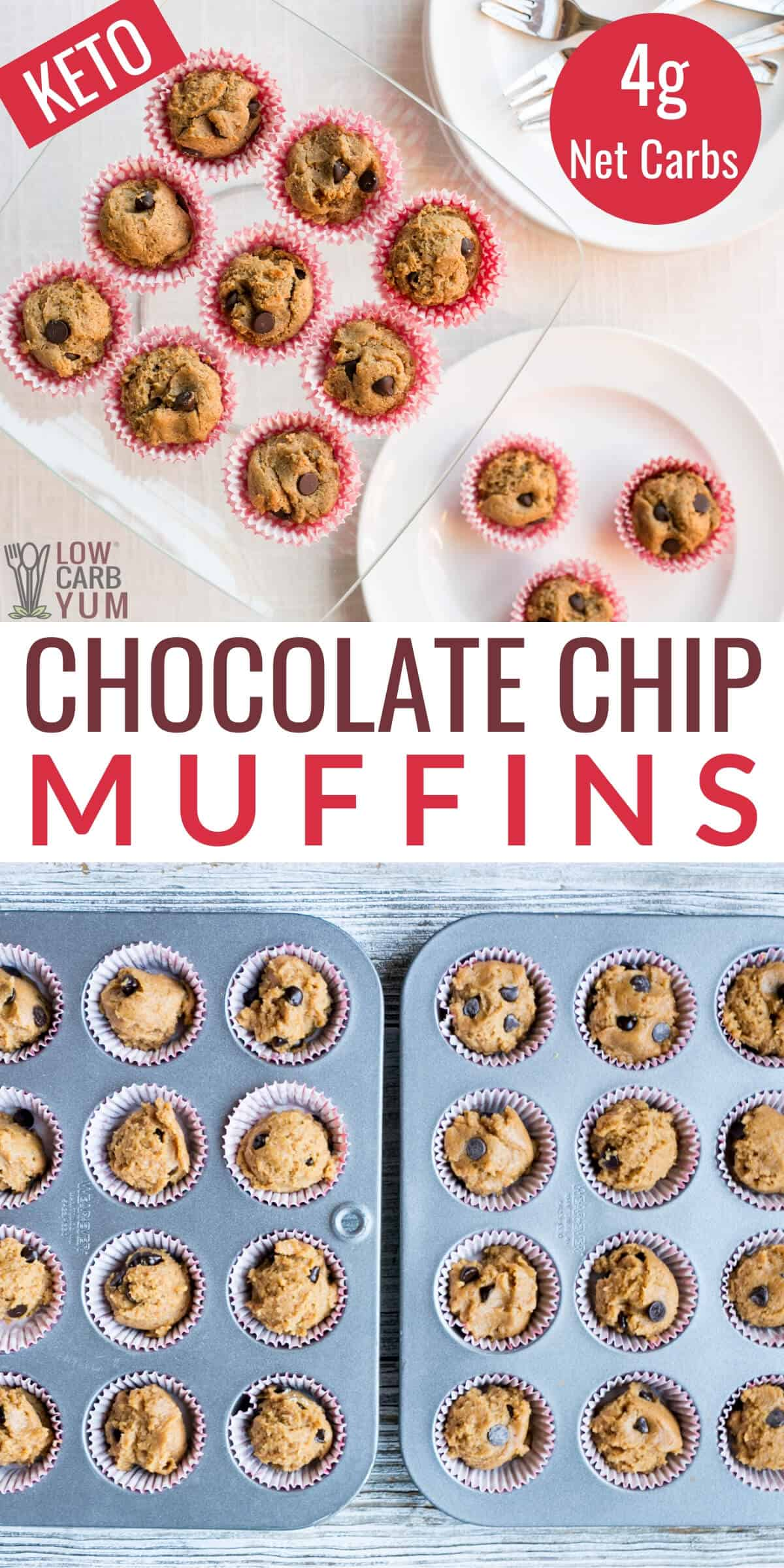 keto chocolate chip muffins recipe