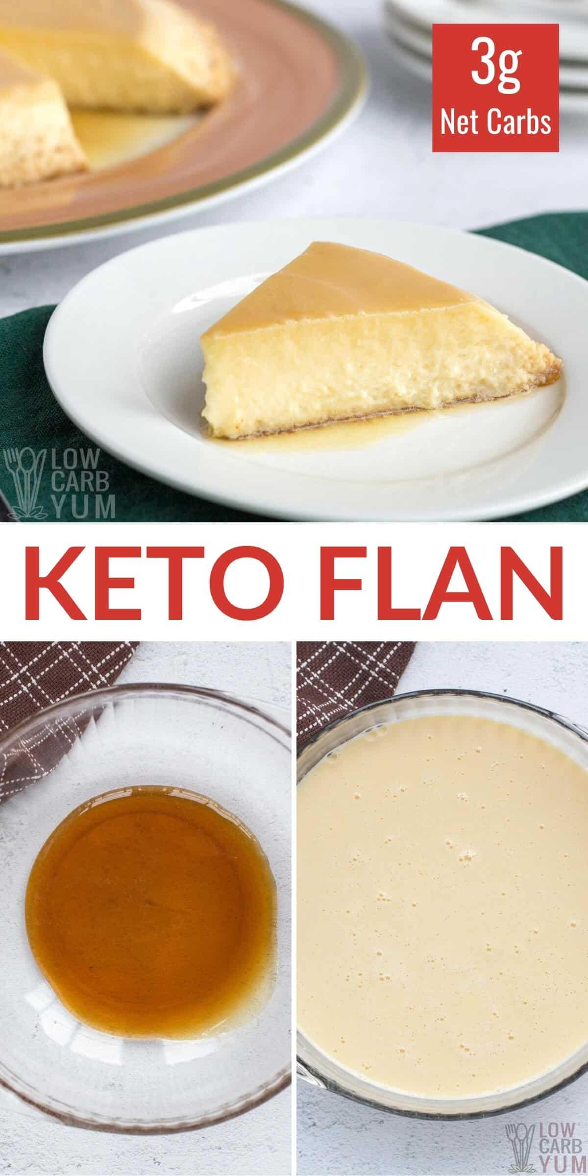 creamy caramel low carb keto flan recipe