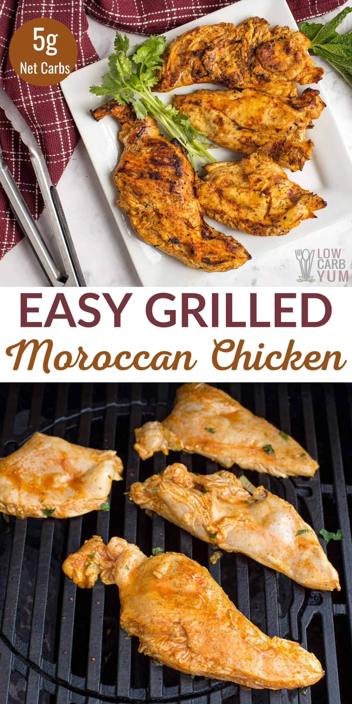 easy grilled moroccan chicken breasts
