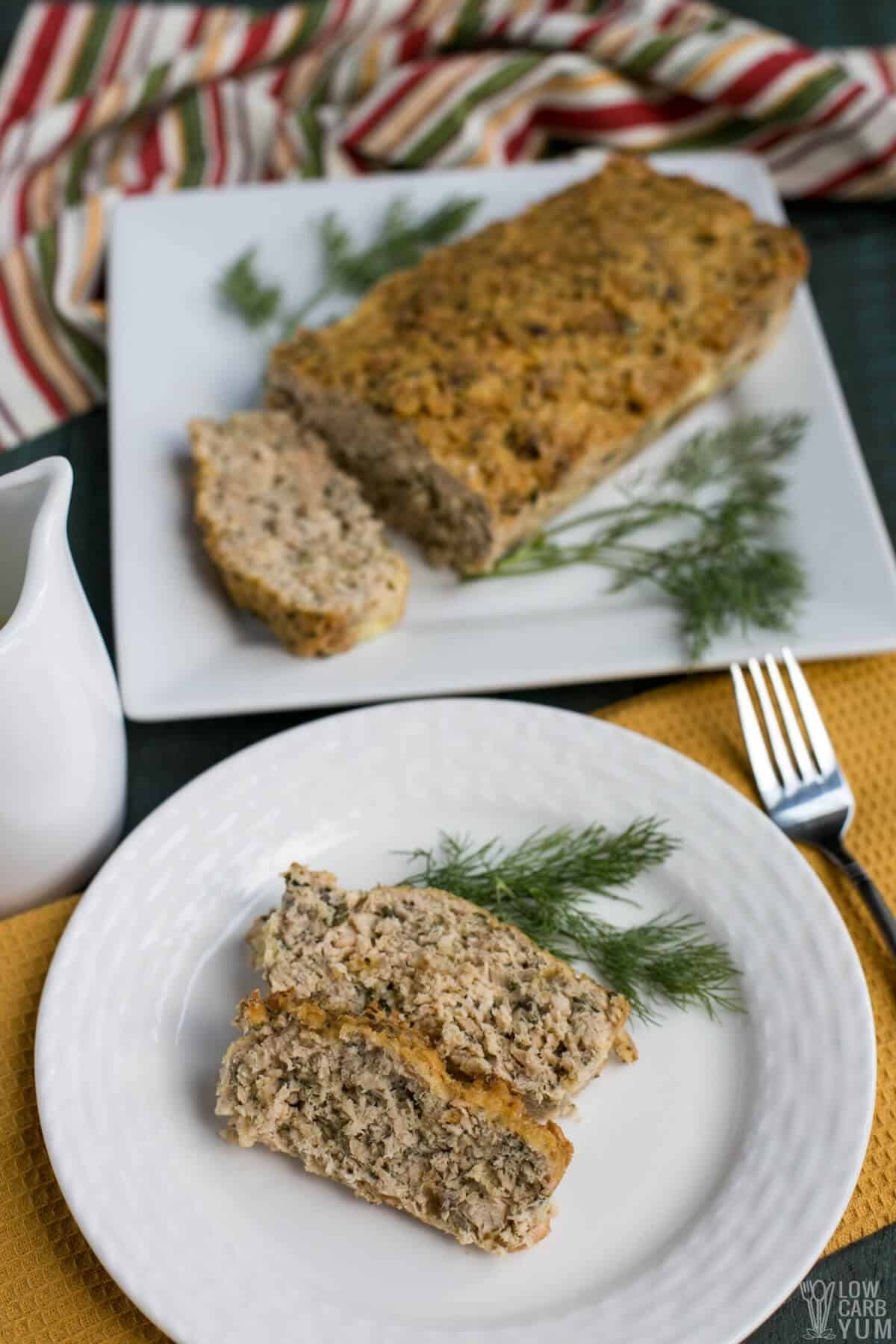 slices of salmon loaf