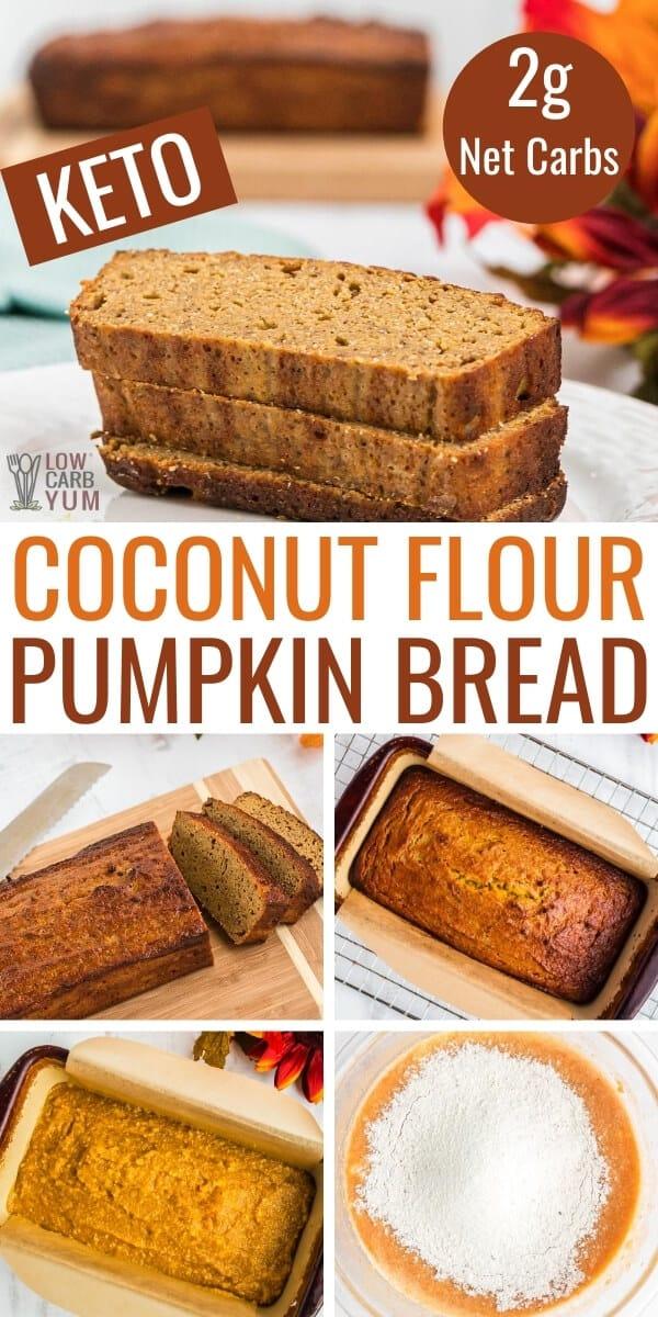 coconut flour keto pumpkin bread recipe
