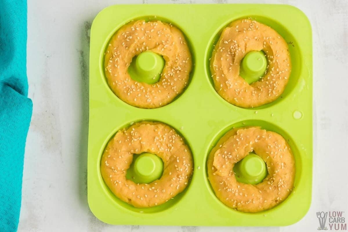 garlic keto bagels step 3