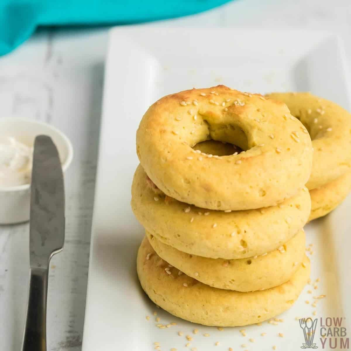 garlic keto bagels no cheese