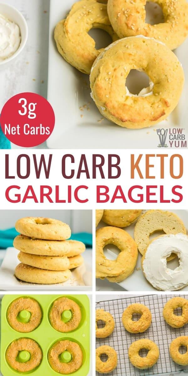 low carb keto garlic bagels recipe