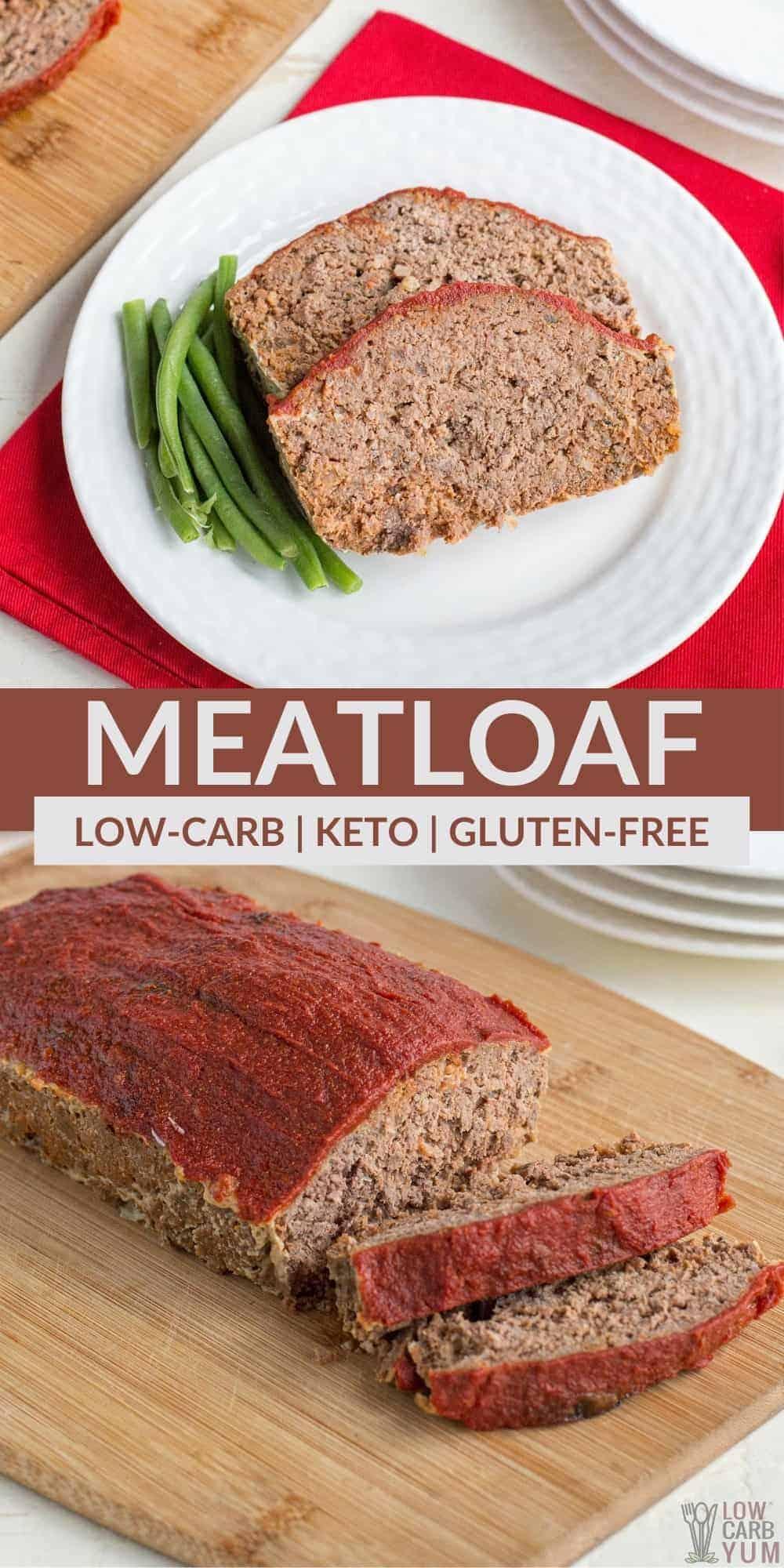 keto meatloaf pinterest image