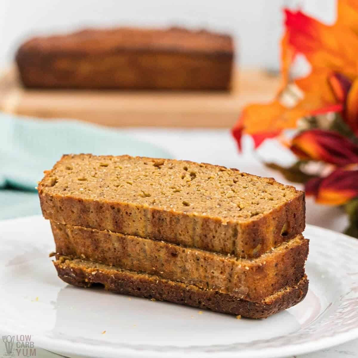 keto pumpkin bread coconut flour recipe