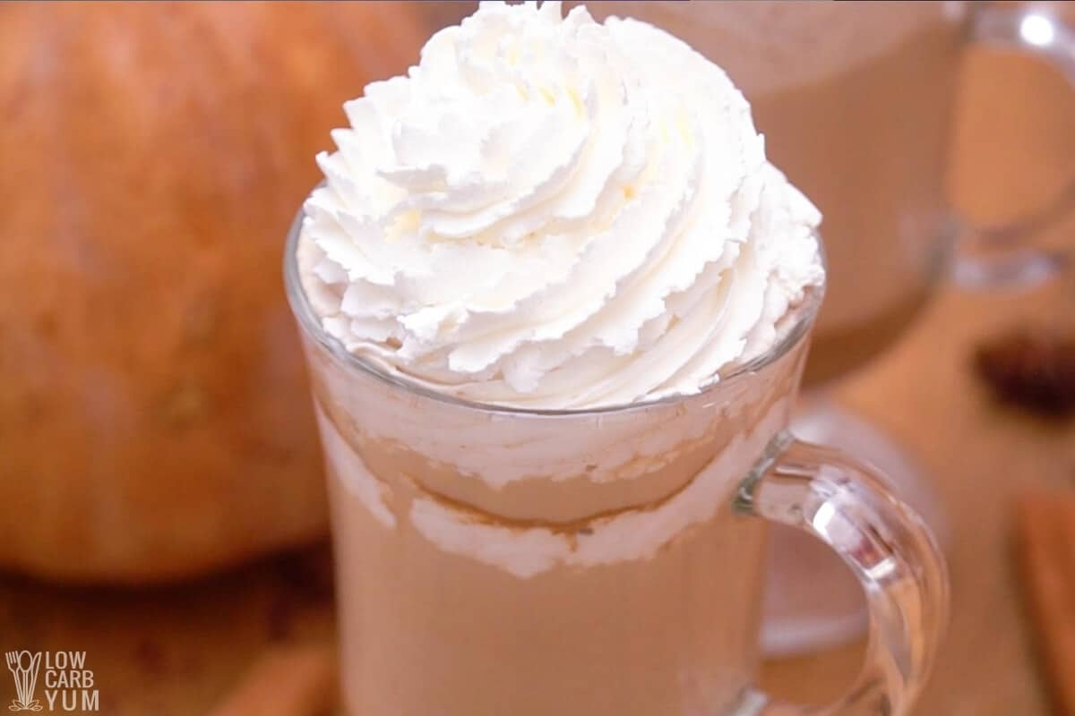 keto pumpkin spice latte with whipped cream