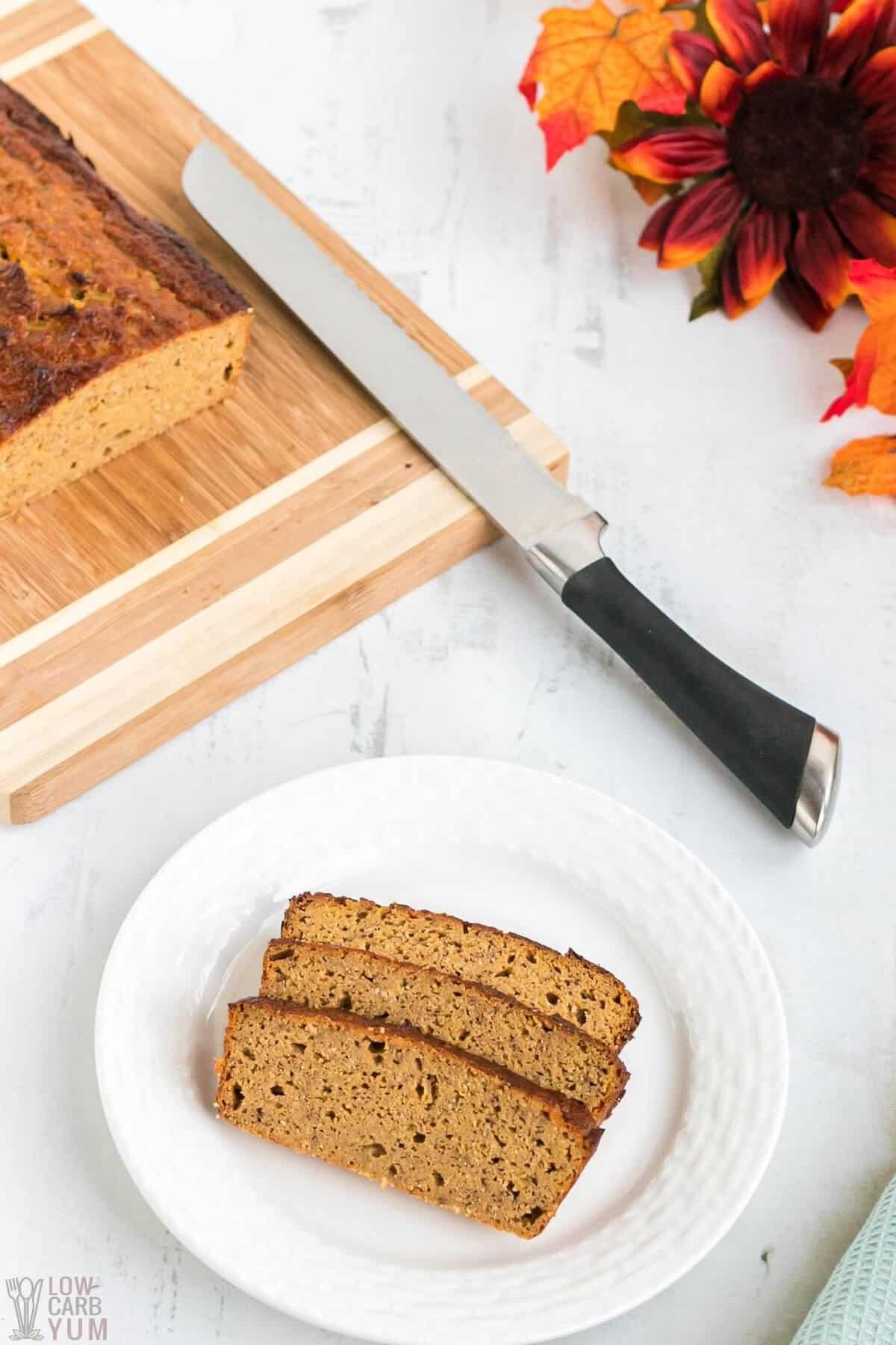 low carb pumpkin bread coconut flour