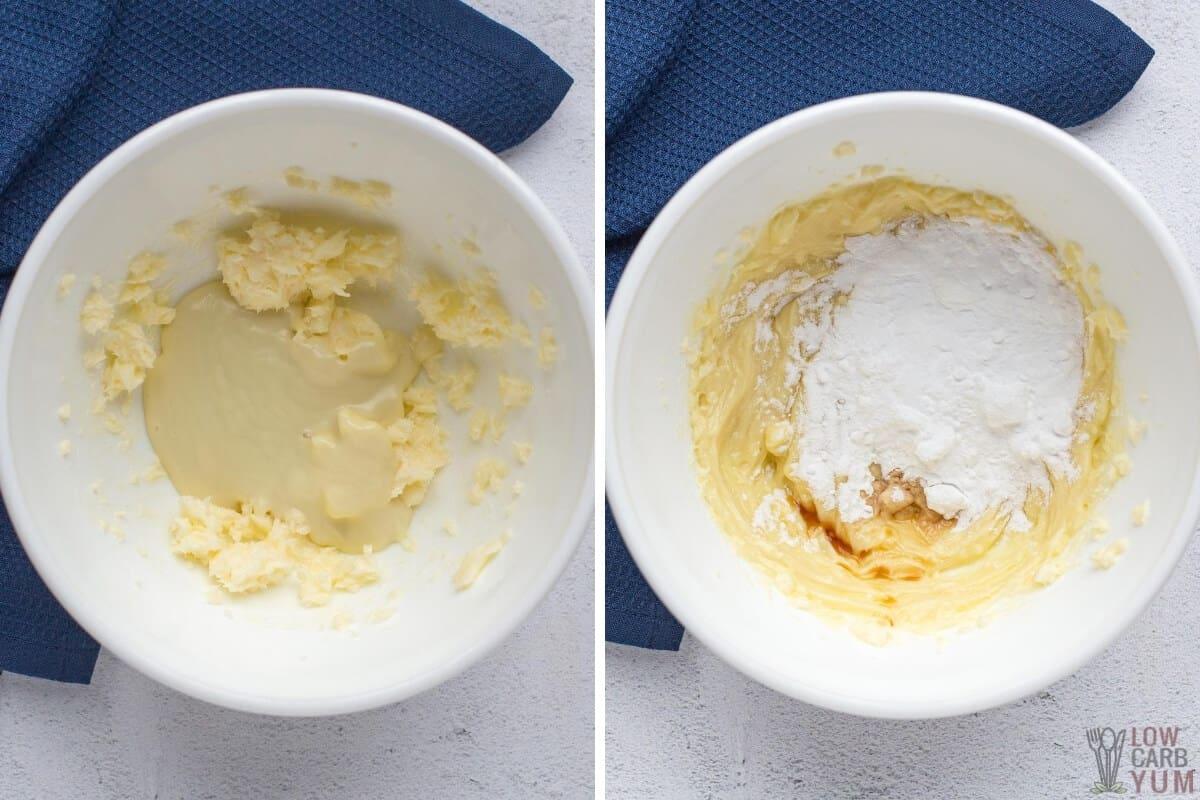 preparing white chocolate frosting