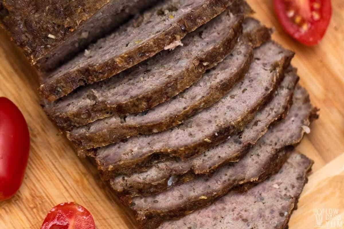 sliced homemade gyro meat