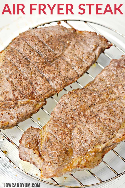 air fryer steak pinterest image