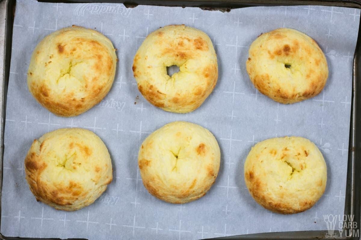 baked keto fathead bagels