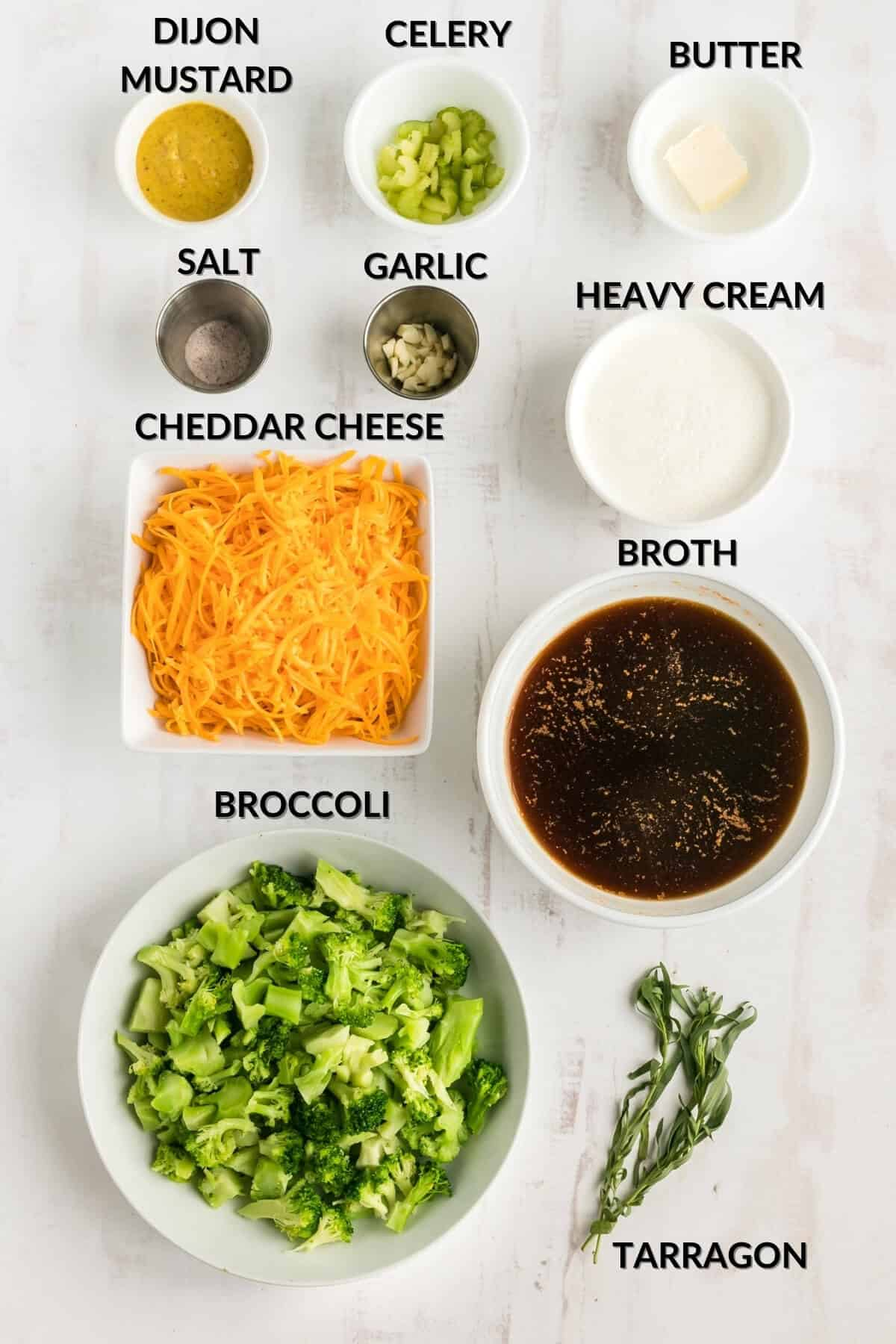 keto broccoli and cheese soup ingredients
