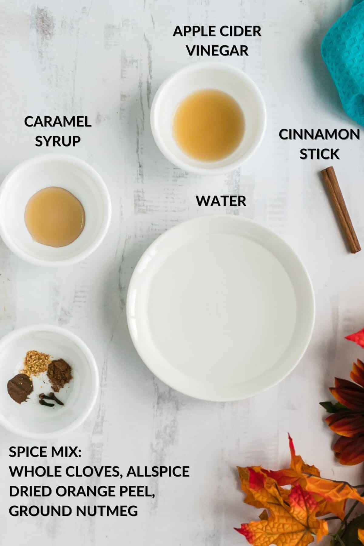 keto caramel apple spice drink ingredients