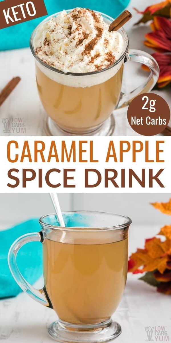 keto caramel apple spice drink