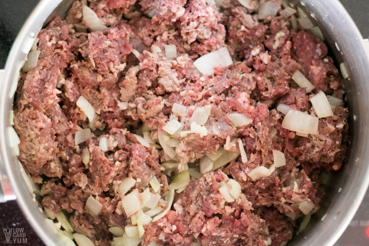 ground beef for cabbage soup