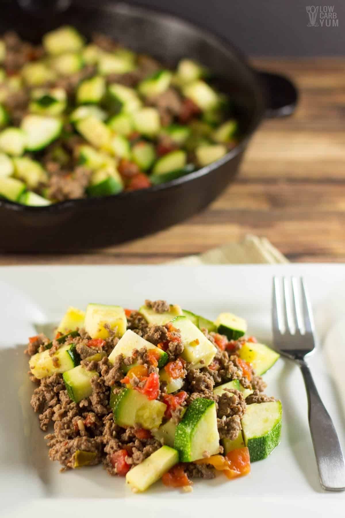 ground beef with zucchini