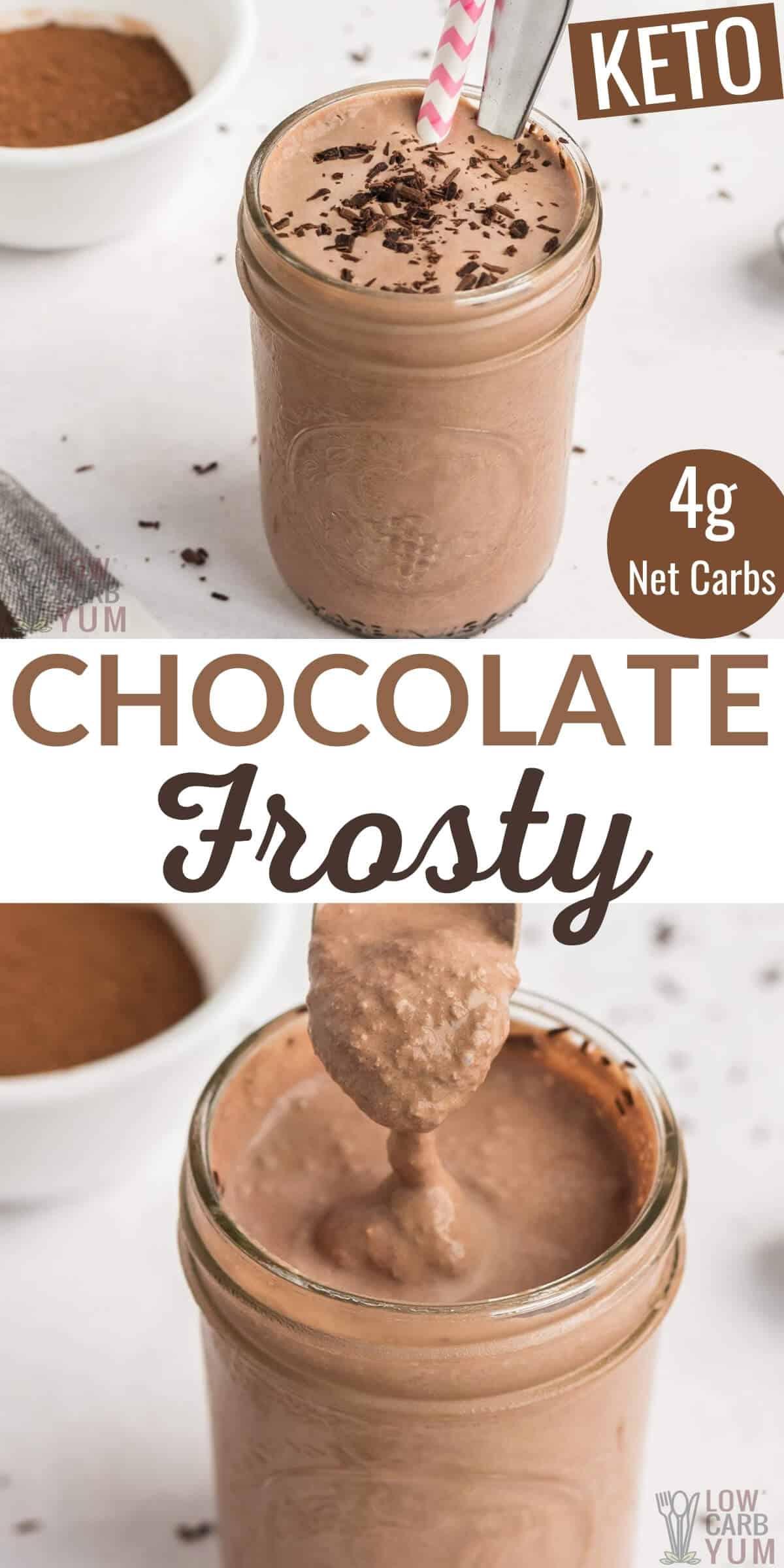 keto chocolate frosty recipe