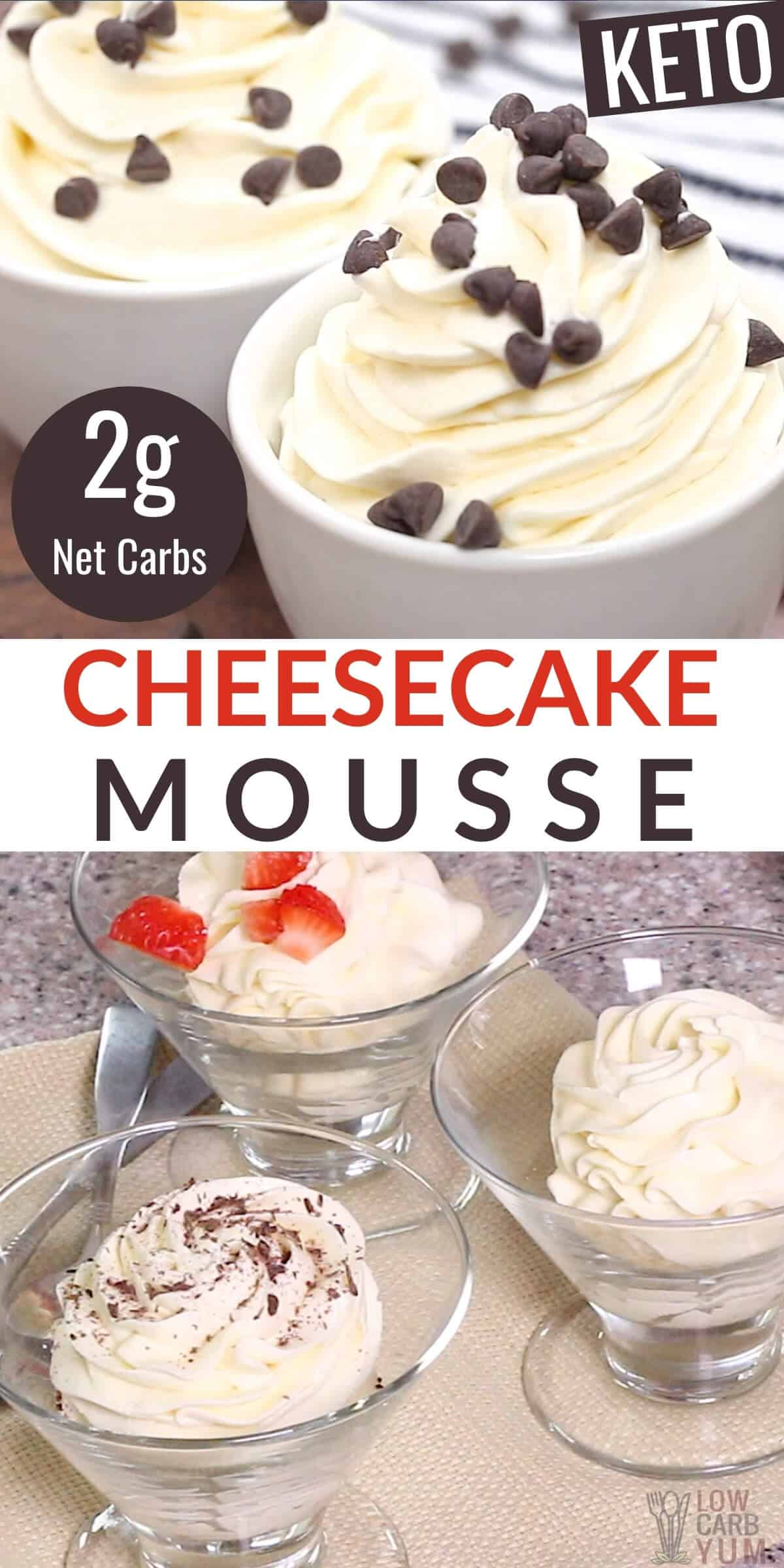keto cream cheese mousse dessert recipe