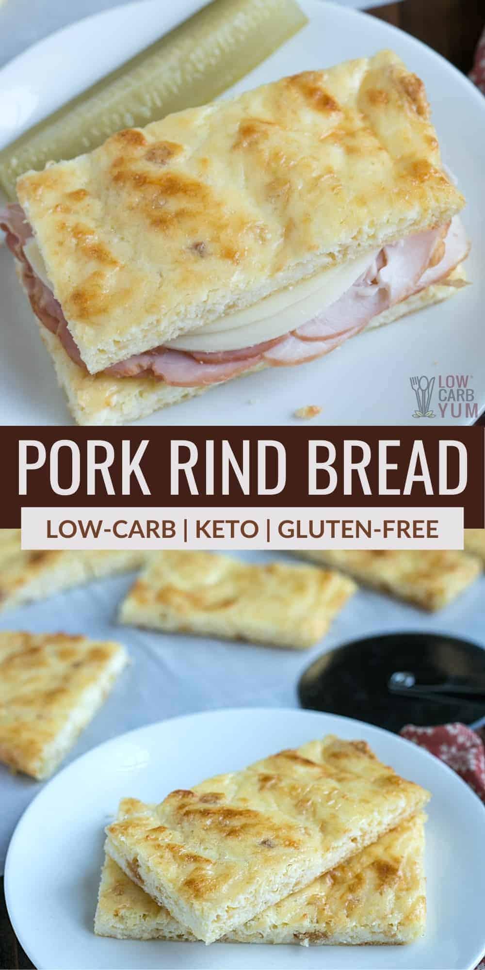 keto pork rind bread pinterest image