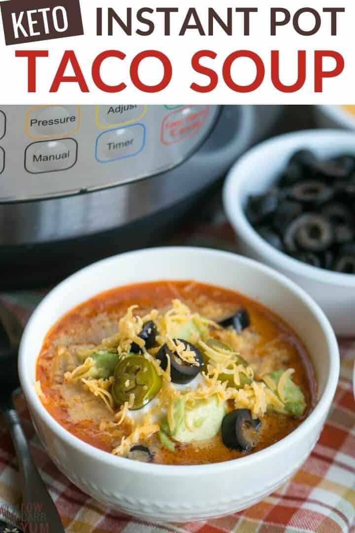 keto taco soup instant pot recipe