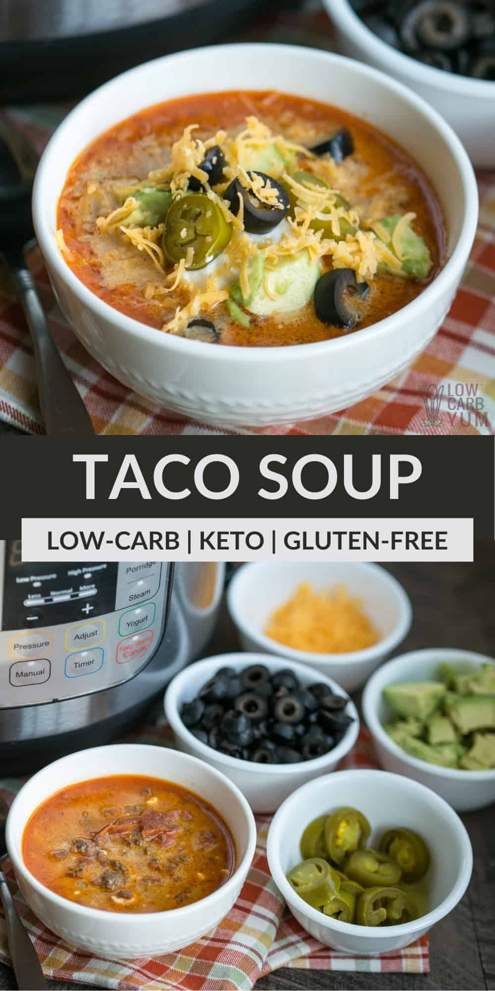 keto taco soup pinterest image
