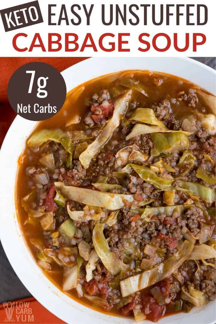 keto unstuffed cabbage soup