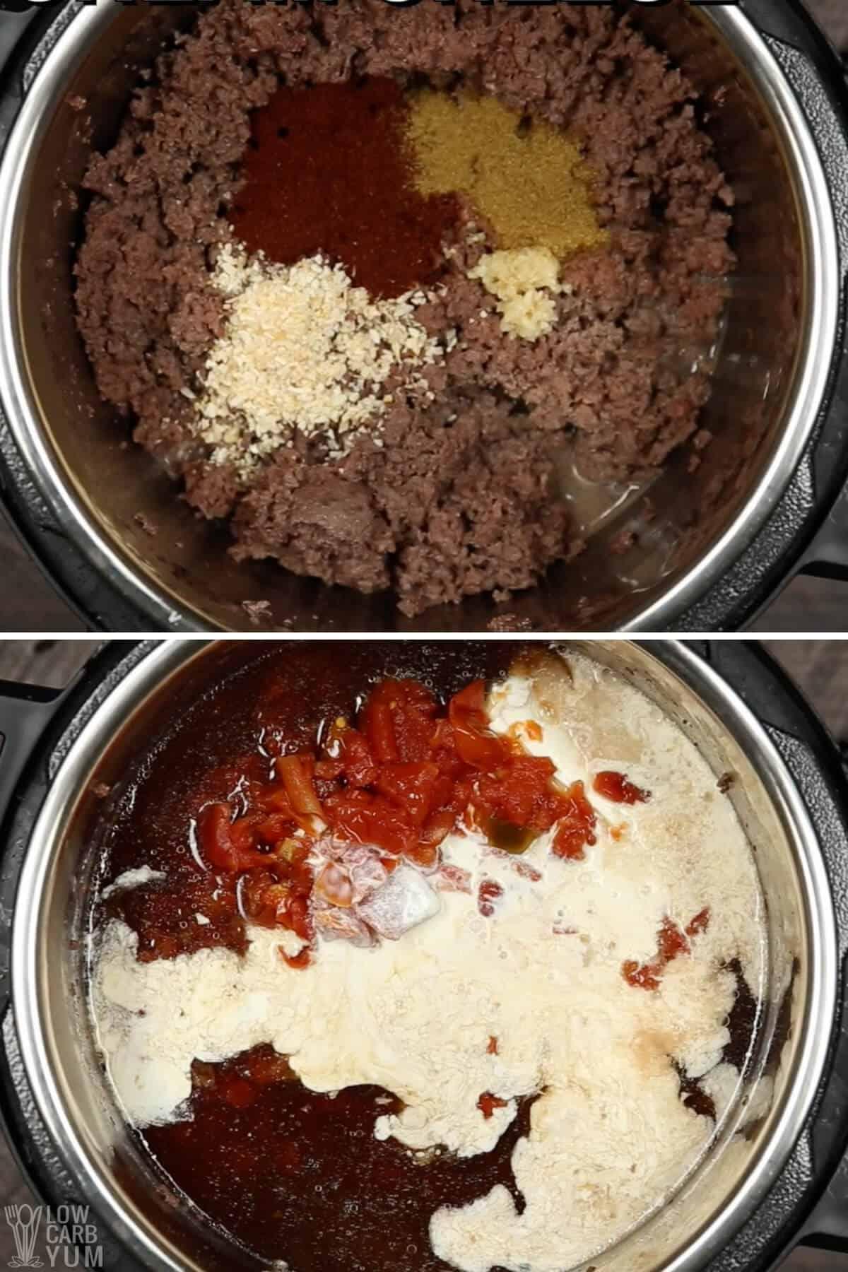 making taco instant pot keto soup