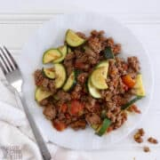 mexican zucchini and ground beef