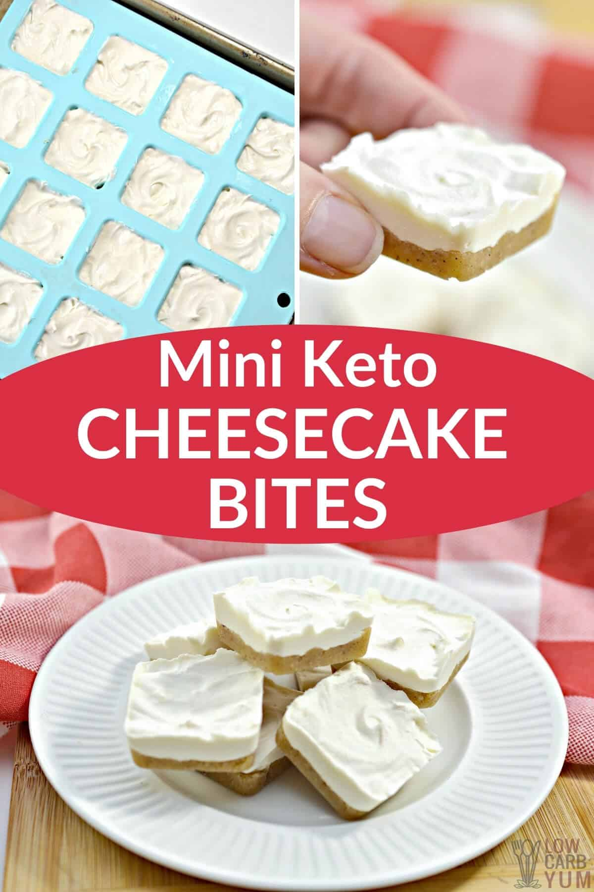 mini keto cheesecake bites pinterest image