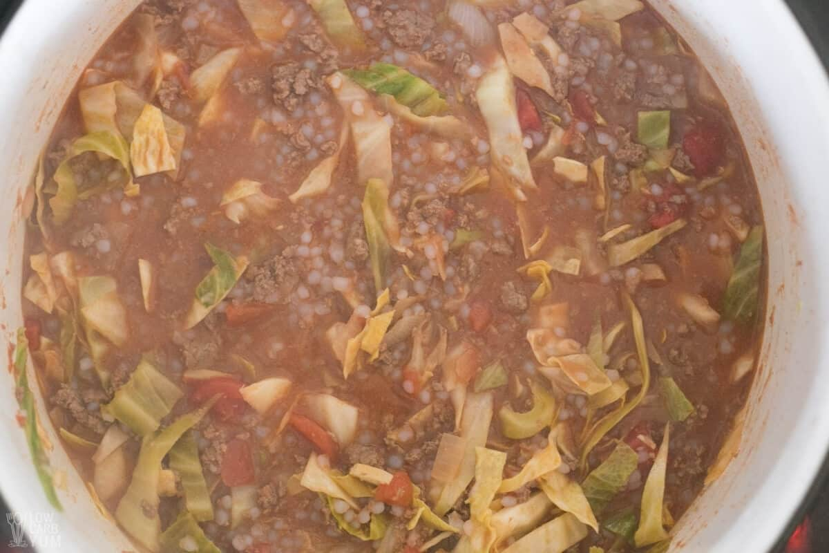 miracle rice added to soup
