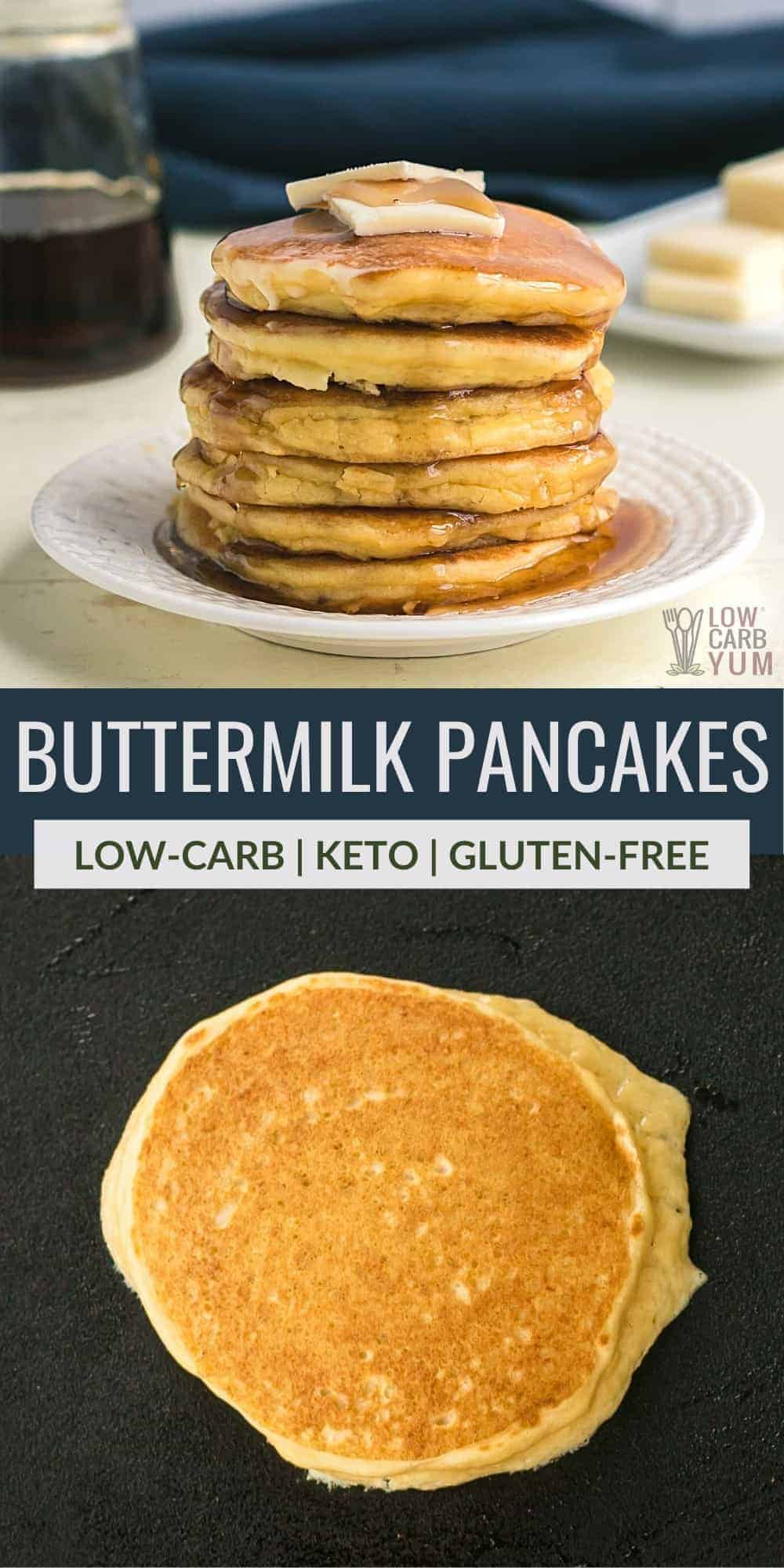 oat fiber buttermilk pancakes pinterest image