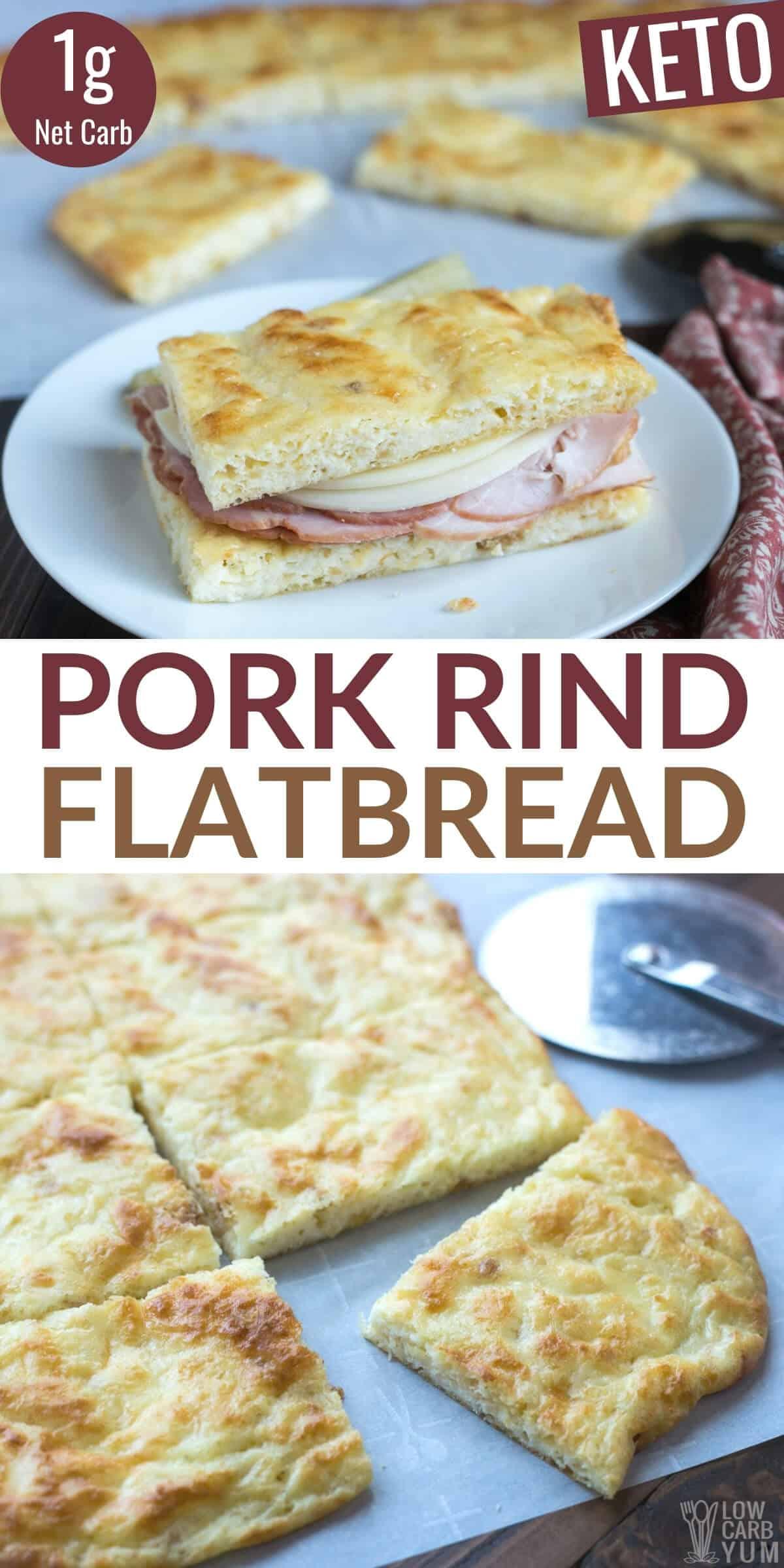 pork rind keto flatbread